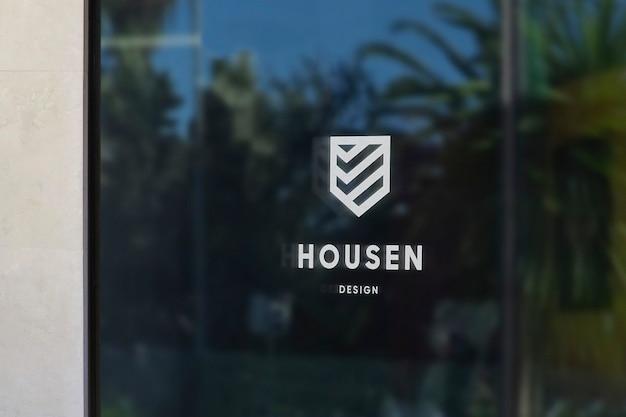 Window sign logo mockup