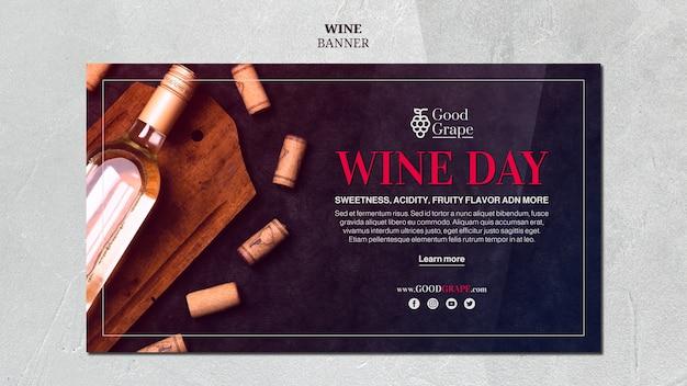 Concetto del modello dell'insegna del vino