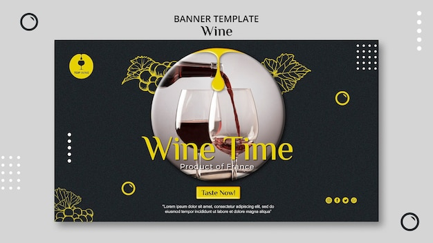 Wine banner template design