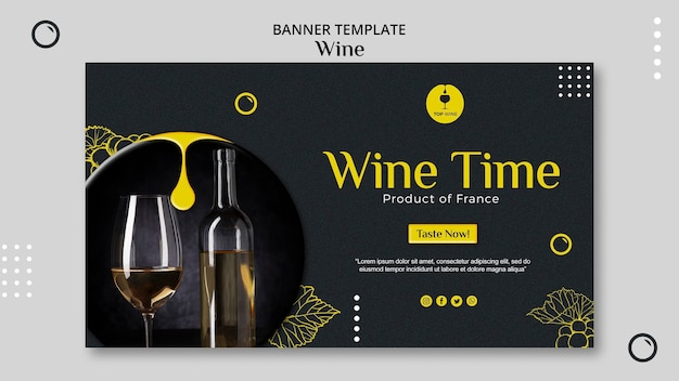 Wine banner template theme