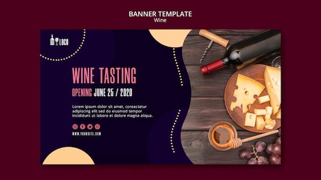 Modello della bandiera del vino