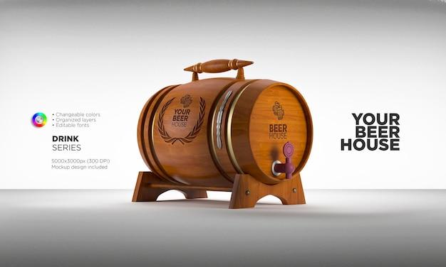 Wine or beer barrel mockup
