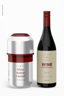Мокап охладителя бутылки вина, вид спереди