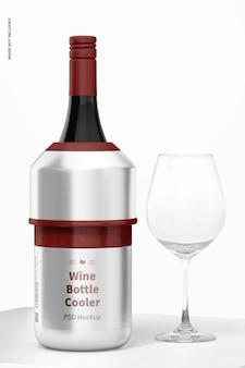 Мокап охладителя бутылки вина
