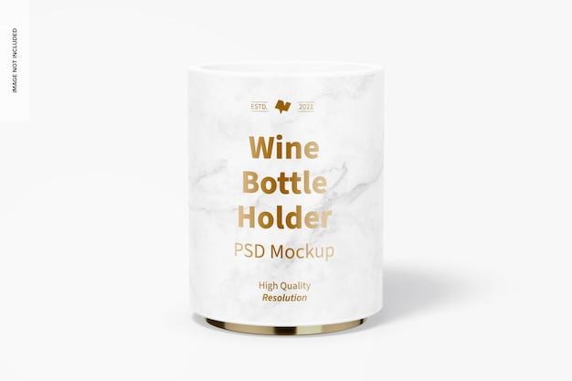 Мокап держателя бутылки вина, вид спереди