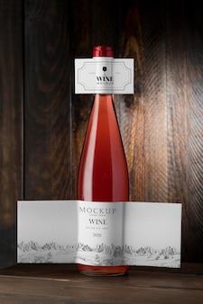 Wine bottle label mock up