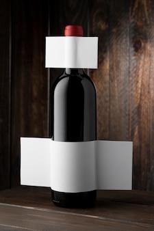 와인 병 라벨을 모의