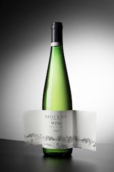 ワインボトルラベルのモックアップ