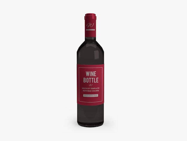Дизайн мокапа бутылки вина