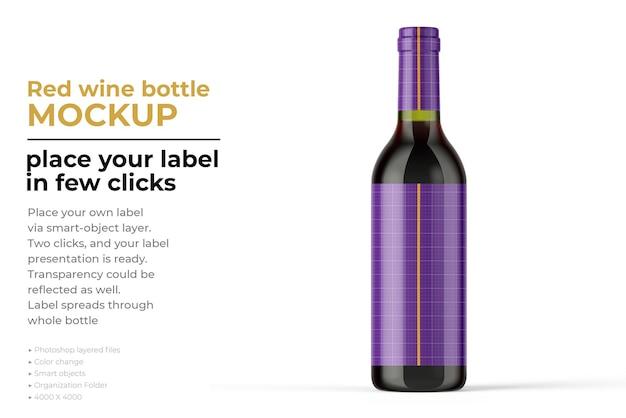 Изолированный макет бутылки вина
