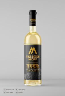 Wine bottle mockup isolated