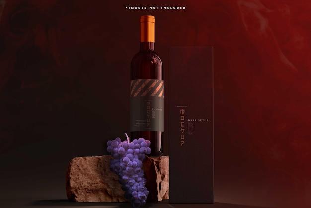 Modello di bottiglia di vino