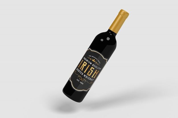 Wine bottle product mockups