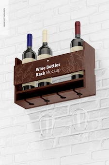 Мокап стойки для бутылок вина