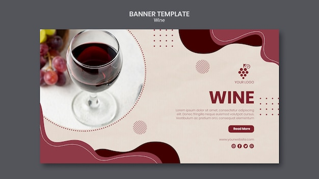 Wine concept banner template