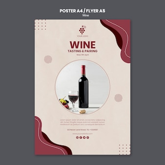 Wine concept poster template