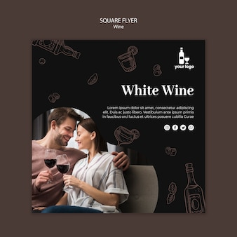 Wine flyer design template