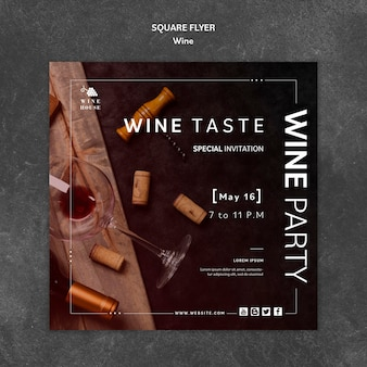 Tema del modello di volantino di vino