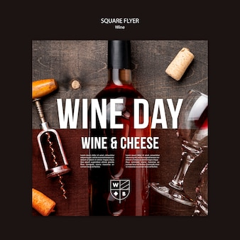 Wine flyer template theme