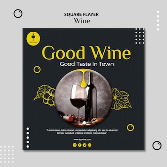 Wine flyer template
