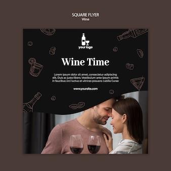 Modello di volantino del vino