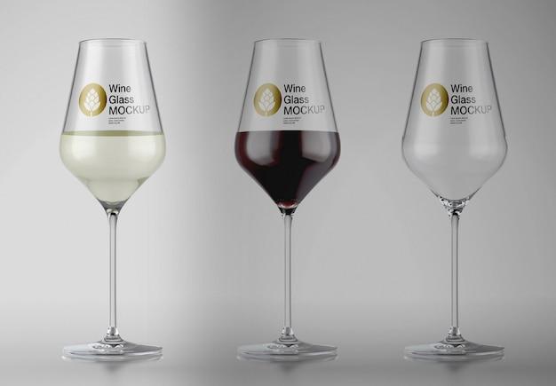 와인 글라스 목업