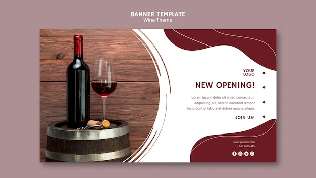 Wine opening banner template