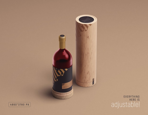 Wine packaging mockup di mithun mitra