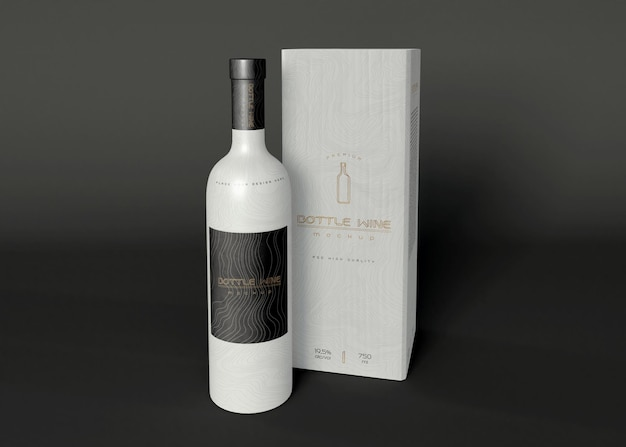 Mockup di packaging per vino