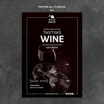 ワインポスターテンプレートテーマ