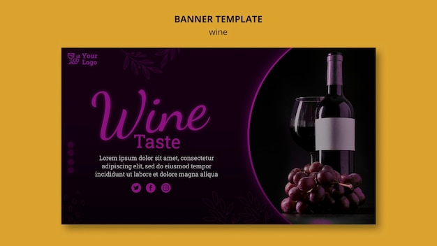 Wine promotional banner template