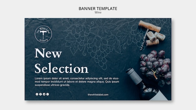 Wine shop banner template