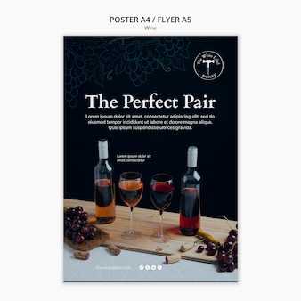 Wine shop flyer template