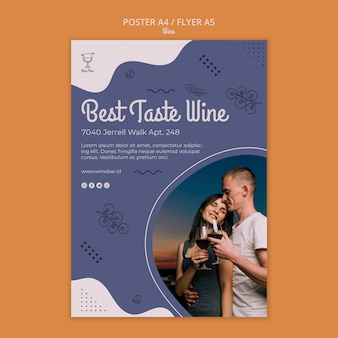 Wine shop poster template
