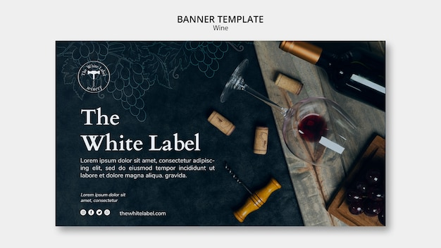 Wine shop template banner