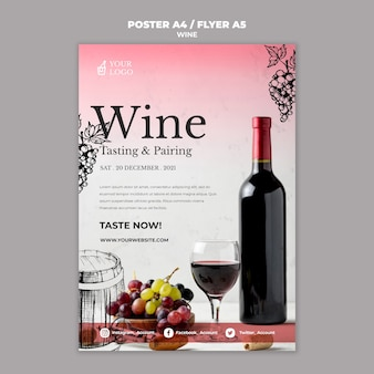 와인 시음 포스터 디자인