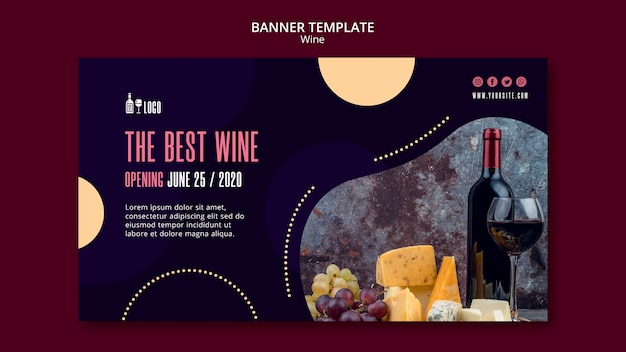 Wine template for banner