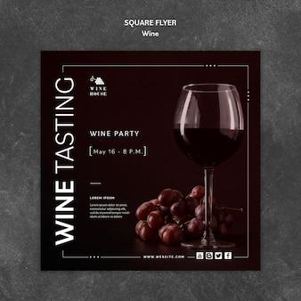 Modello di vino per volantino