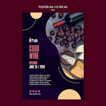 Modello di vino per il concetto di poster