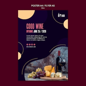 Wine template for poster concept