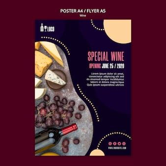 Wine template for poster style