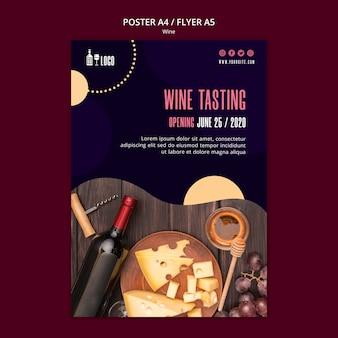 Modello di vino per poster