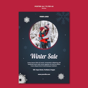 Winter concept poster template
