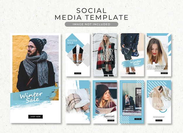 Winter fashion insta stories template