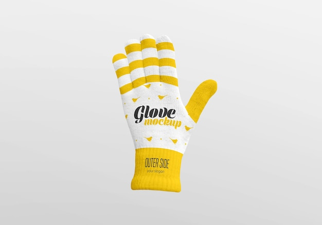 Winter glove mockup