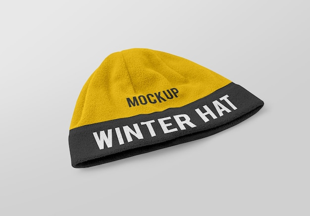 Winter hat mockup design