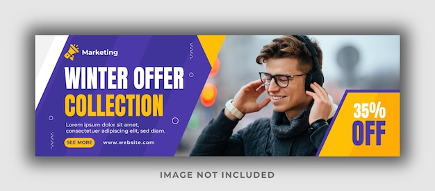Winter offer collection facebook cover template