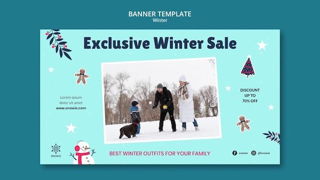 Modello di progettazione banner saldi invernali