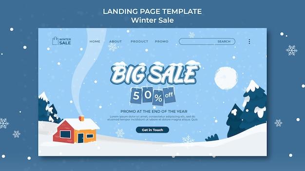 Modello di progettazione della pagina di destinazione dei saldi invernali