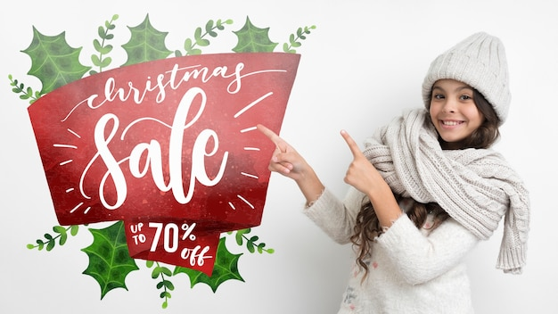 Winter shopping season with special offers